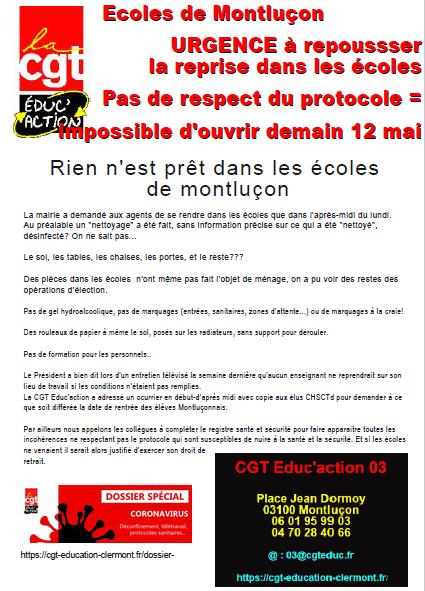 Alerte à Montluçon